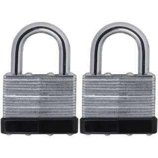 Mountain Security Steel Padlock, 2pk Hardware
