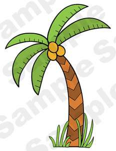 PALM TREE COCONUT JUNGLE SAFARI BABY NURSERY KIDS WALL ART MURAL