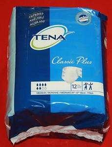TENA Disposable Adult Underwear Diapers Brief Medium 12