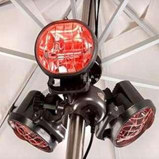 Sunmaster Umbrella Mounted Patio Heater   Infrared