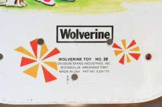 Toy Tin Lithograph WOLVERINE Sunny Suzy Metal Ironing Board