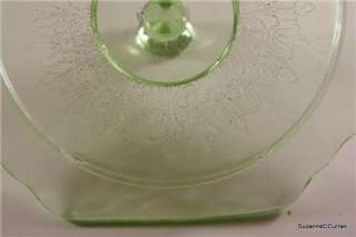 Anchor Hocking PRINCESS Green Depression Glass Cookie Jar & Lid