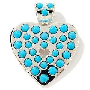 JAY KING Sleeping Beauty Turquoise Heart Pendant