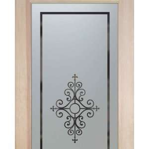 Pantry Doors 2/0 x 6/8 1 Lite French Frosted Glass Door Maya: