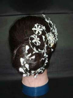 Bridal Rhinestone Flower Cryatal Hair tiara Comb RB384