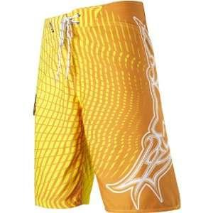 Harter Vortex Mens Boardshort Beach Pants   Day Glo Orange / Size 28