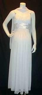 new long formal white satin sash maternity dress size x large colors