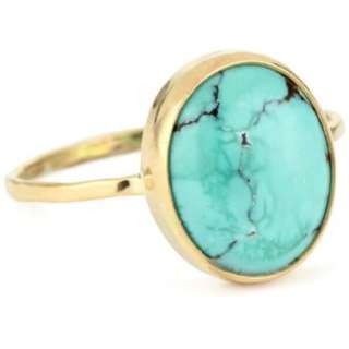 Melissa Joy Manning Neptune 14k Gold Turquoise Ring   designer shoes