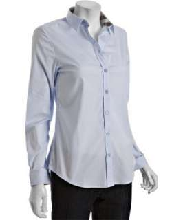 style #314647601 Burberry Brit city blue stretch cotton shirt