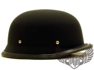 Flat Black German Cruiser Motorcycle Helmet DOT ~M
