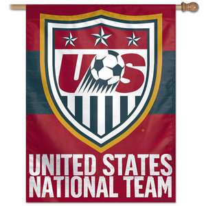 United States National Team Red Vertical Flag 27x37