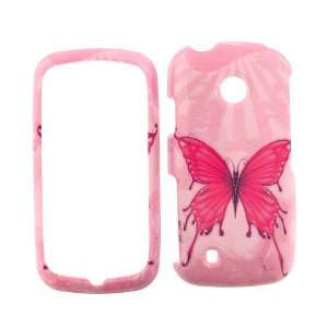 LG COSMOS TOUCH VN270 (Verizon) PINK BUTTERFLY COVER CASE Hard Case