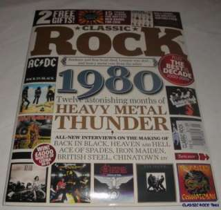 CLASSIC ROCK MAGAZINE + CD FEB 10 AC/DC 1980 THUNDER