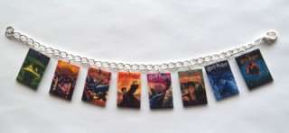 Harry Potter Book Cover Charm Bracelet Deathly Hallows, Goblet of Fire