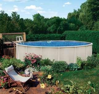 Reprieve 27 x 52 Round Above Ground Metal Frame Swimming Pool