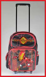 16 Iron Man Rolling Backpack Roller/Bag/Wheeled/Boys