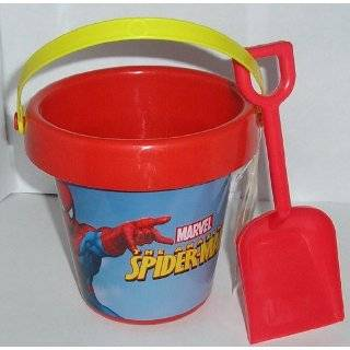 Spiderman Red Sand Beach Pail and Shovel