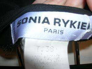 Lot of 2 SONIA RYKIEL Black Long Skirts 36/38 4/6 W@W