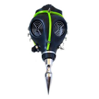 Spike Full Face Gas Mask Cyber Rave Goth Burning Halloween Man