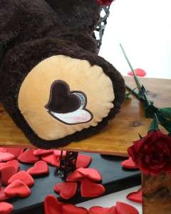 Valentines Day big giant heart Gift brown Teddy Bear 30