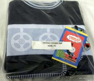 THOMAS TRAIN & FRIENDS BOYS SWEAT PAJAMAS 5T NIP BLUE
