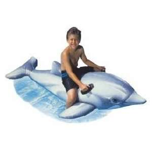 Giant Inflatable Dolphin Swimming Pool Float Toy Toys & Games